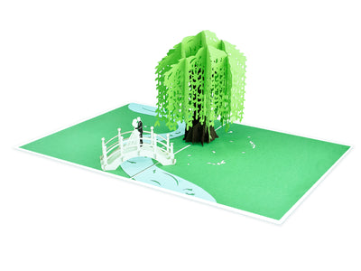 Willow Wedding Scene 3D Creative Pop Up Card