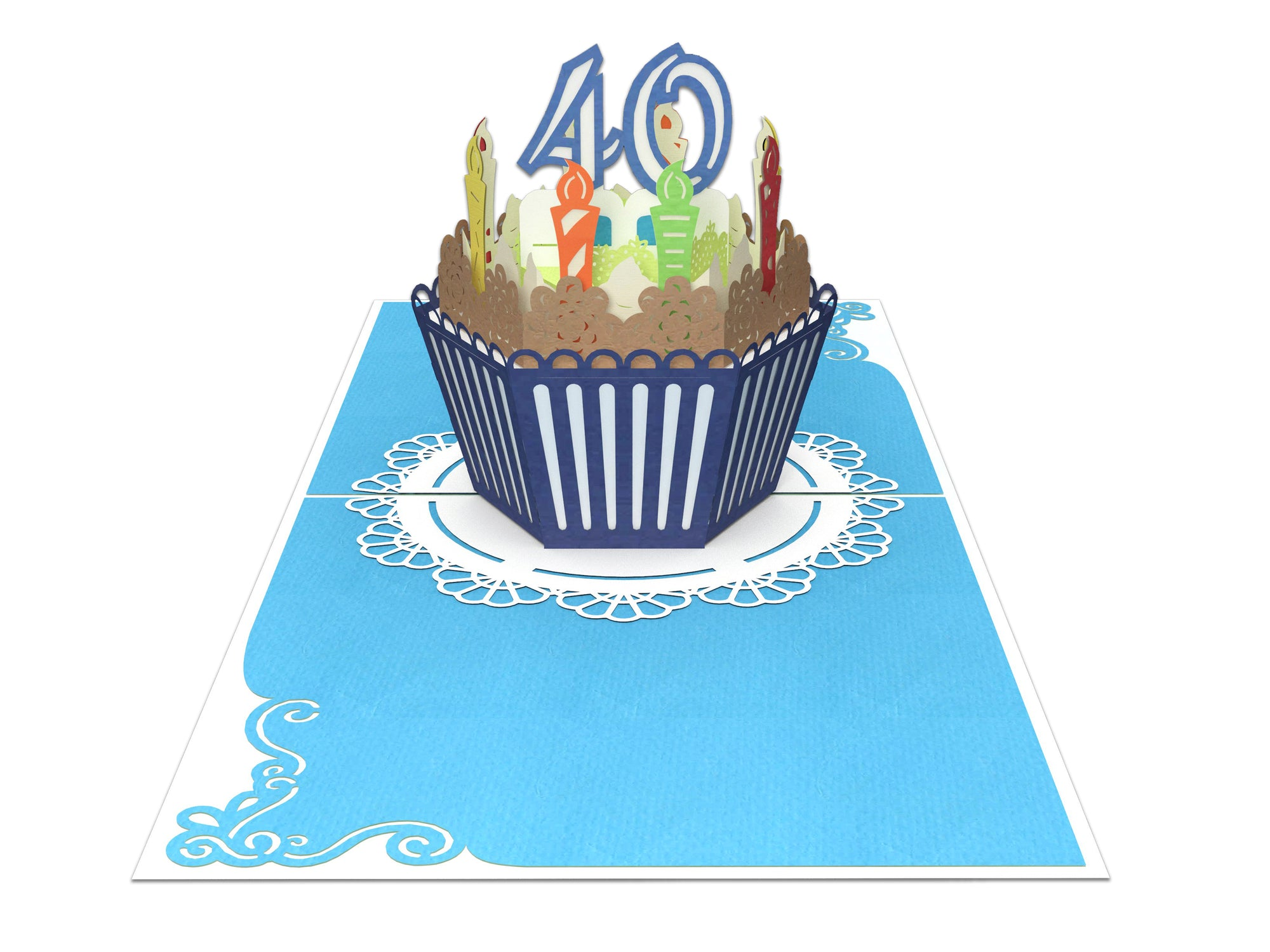 Superb 40Th Birthday Cake For Him 3D Creative Popcard Creative Popcards Personalised Birthday Cards Paralily Jamesorg