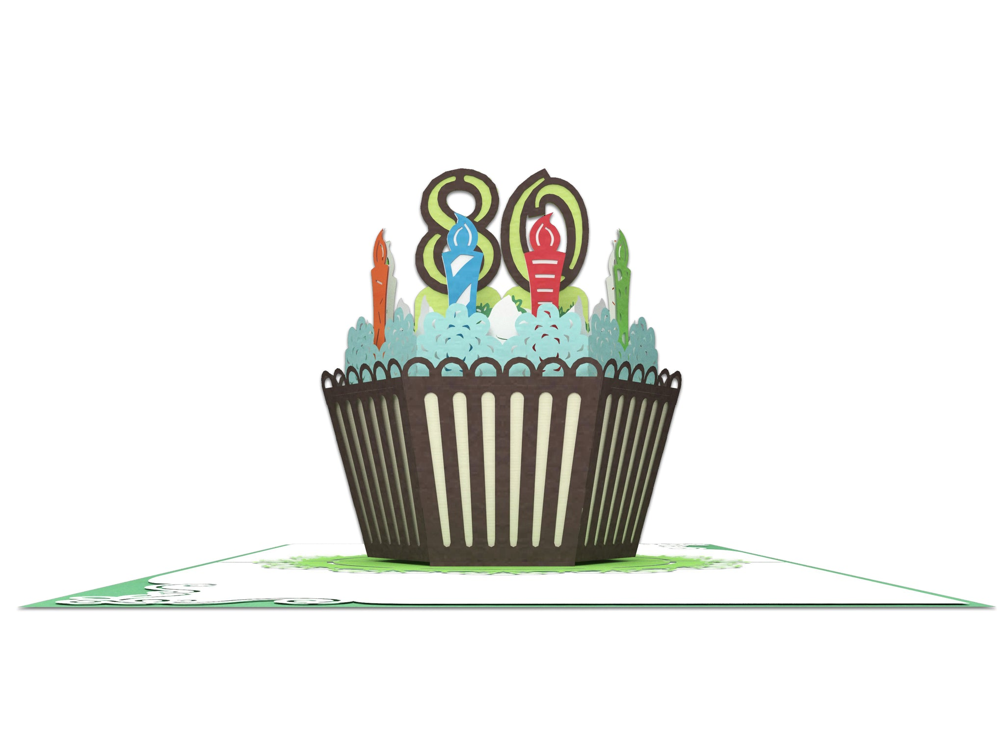 80th Years Old Happy Birthday 3D Creative Popcards