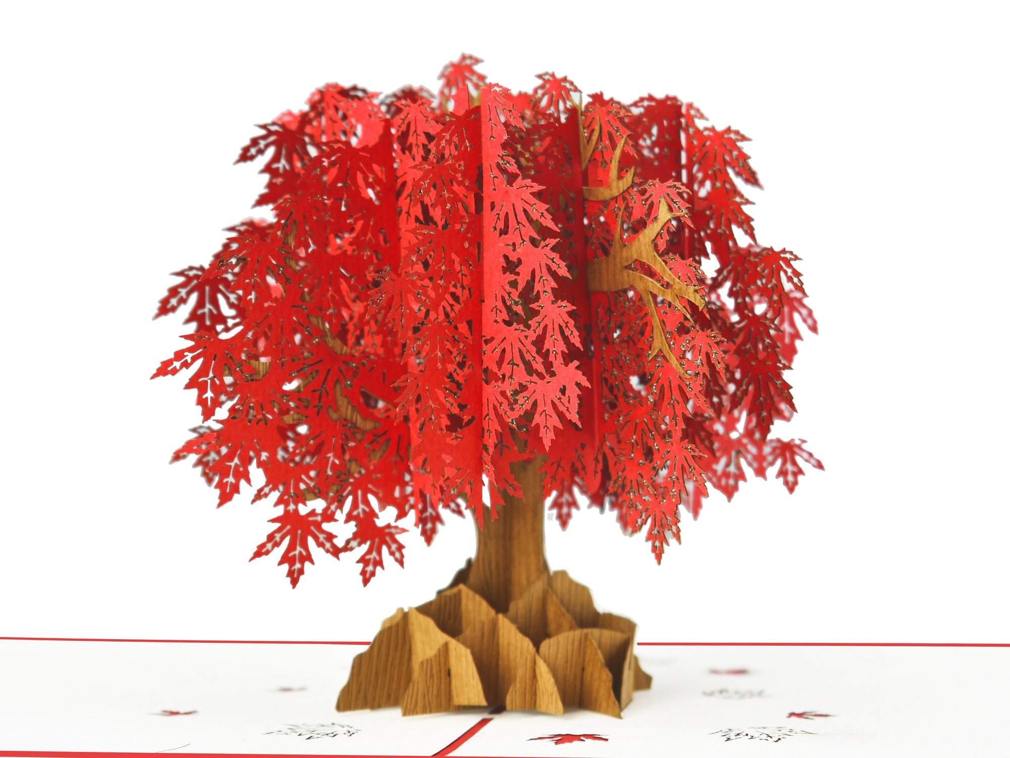 Japanese Maples Tree Red 3D Creative Pop Up Card