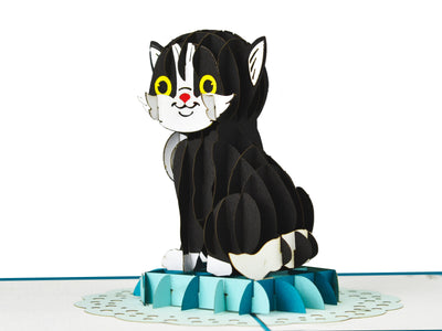 Black Cat 3D Creative Pop Up Card - other side