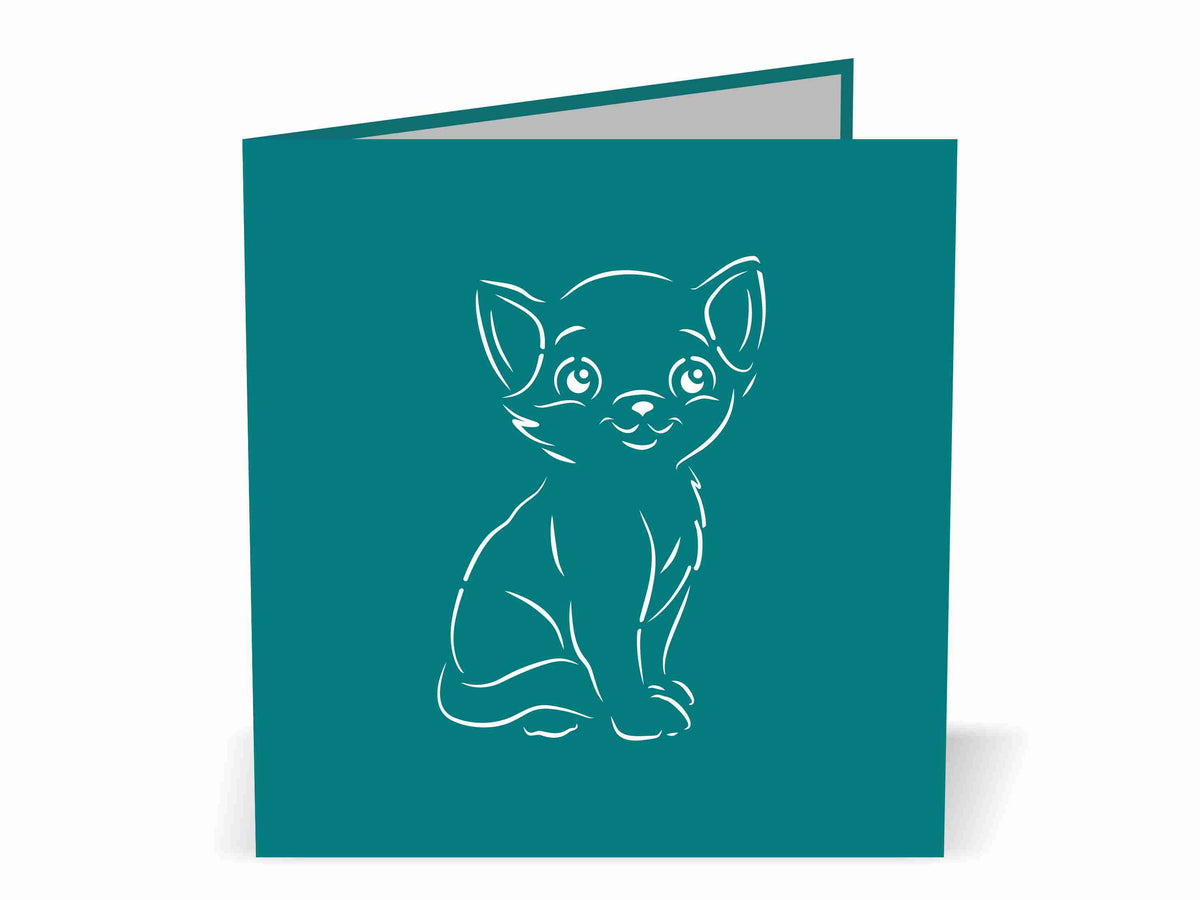 Black Cat 3D Creative Pop Up Card - outside