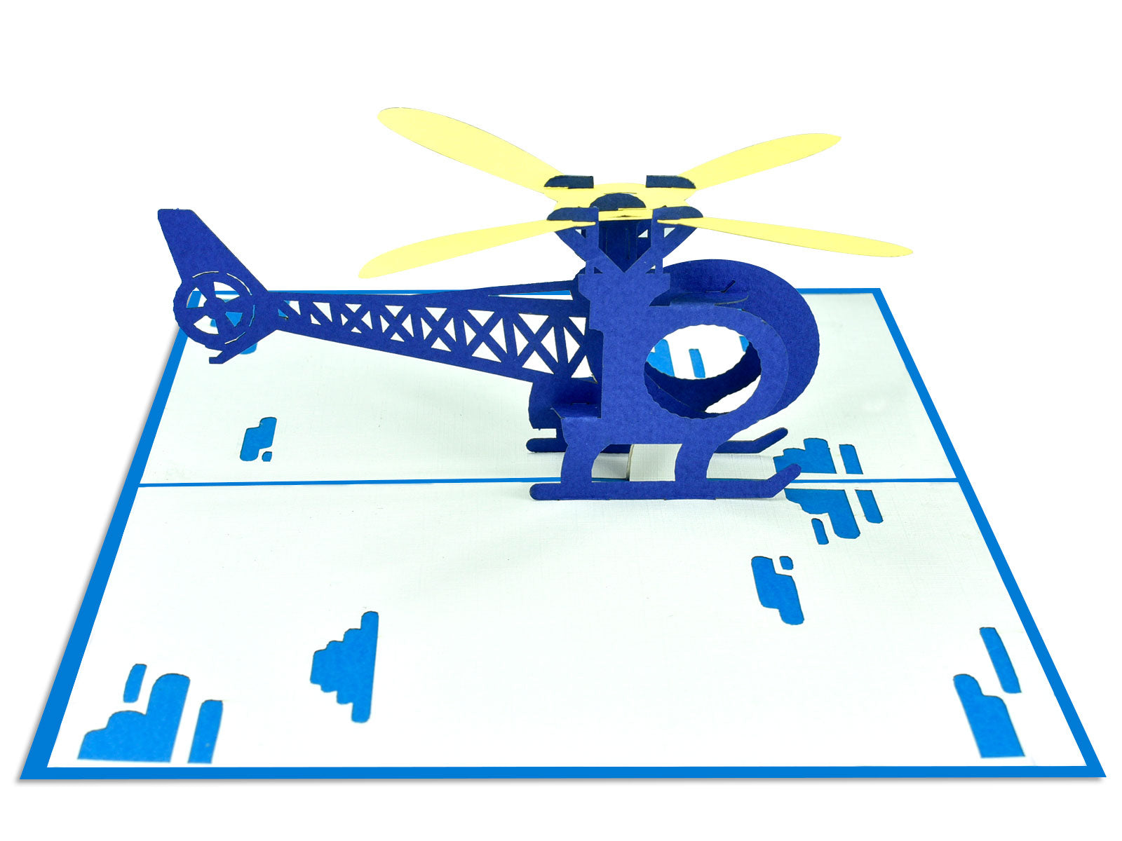 Helicopter 3D Creative Pop Up Card