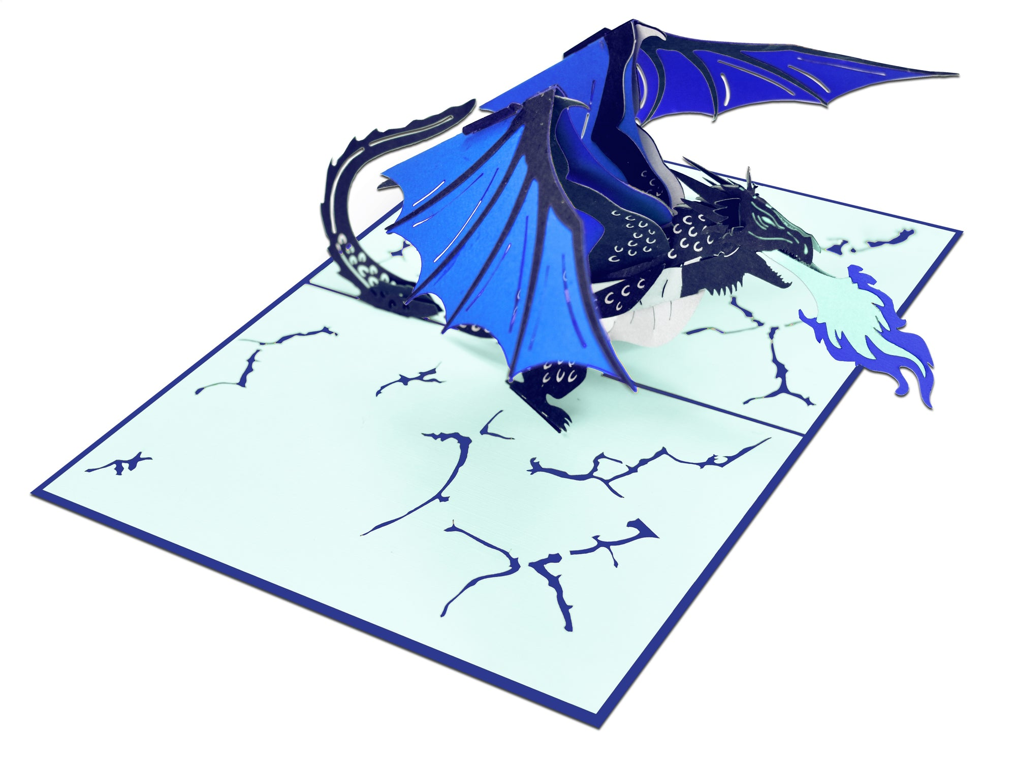 Blue Dragon 3D Creative Pop Up Card