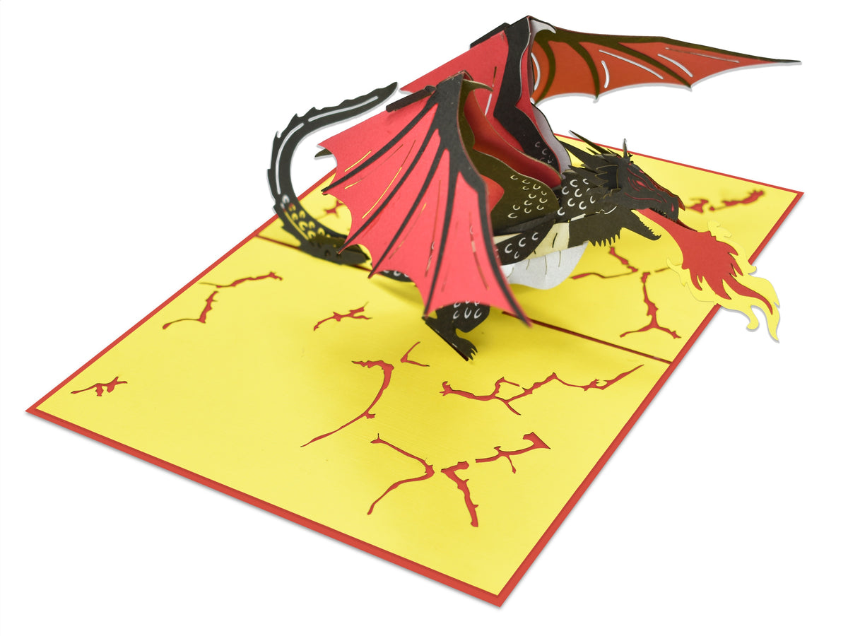 Red Dragon 3D Creative Pop Up Card