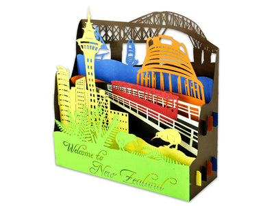 New Zealand Kiwiana Landmarks 3D Creative Pop Up Box