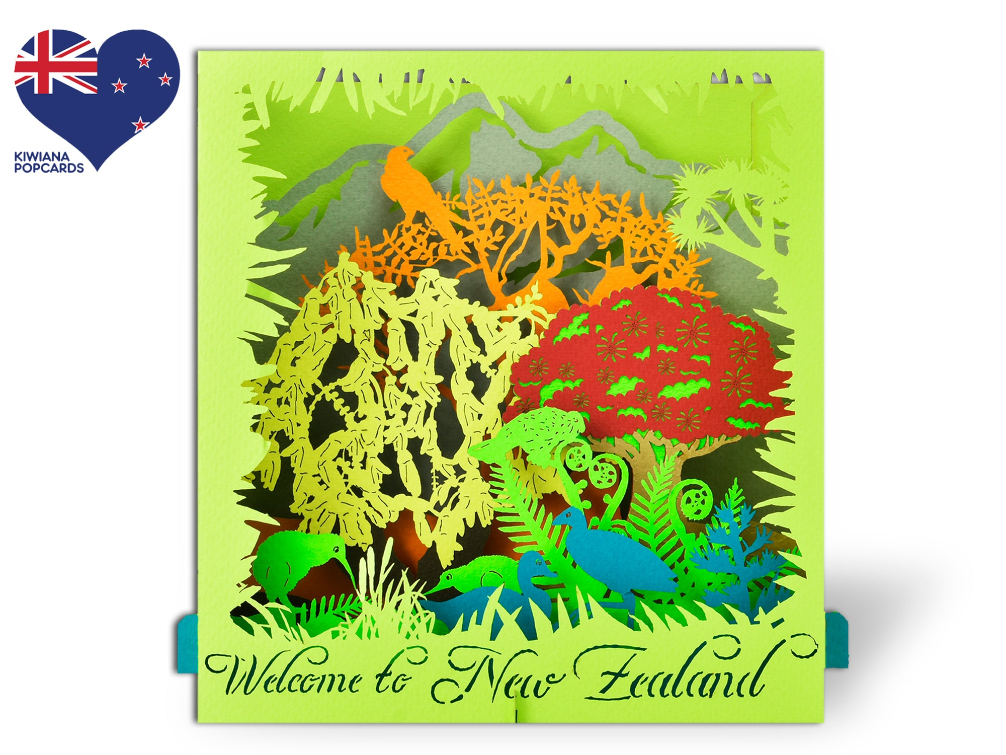 New Zealand Kiwiana Nature 3D Creative Pop Up Box