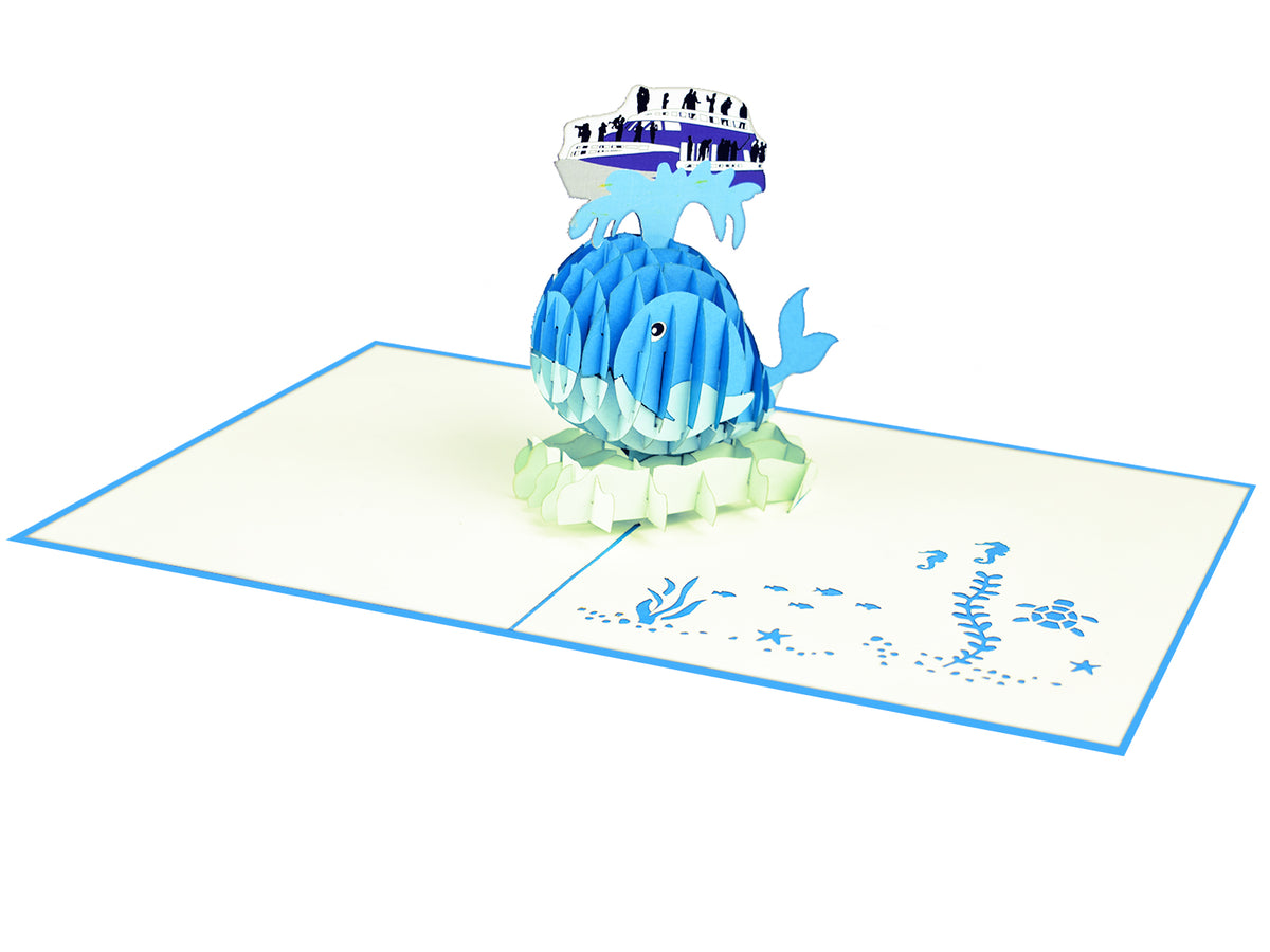 Whale Watching 3D Pop Up Card