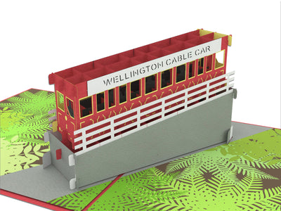 Wellington Cable Car 3D Creative Pop Up Card