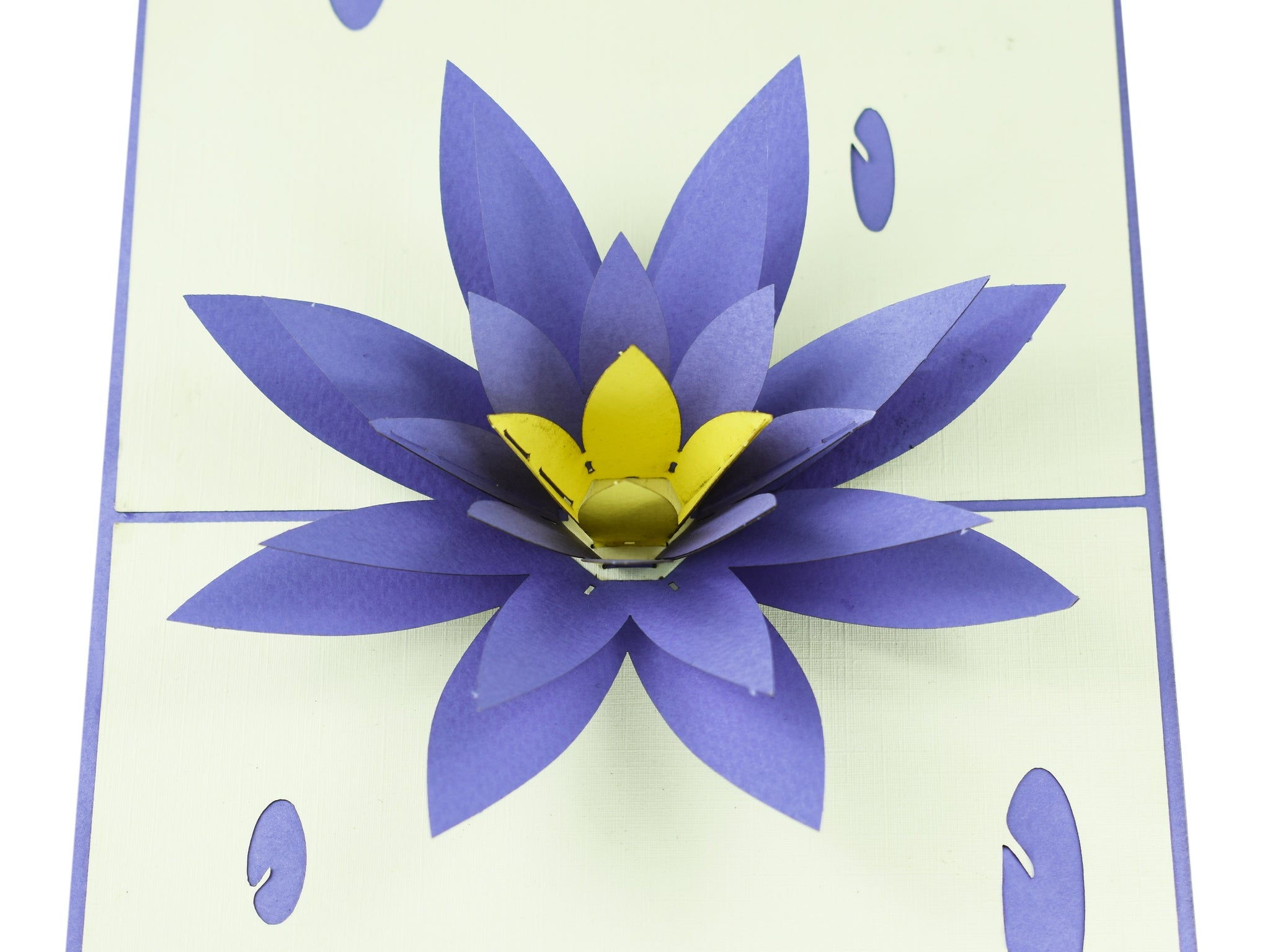 Lotus Flower 3d Creative Pop Up Card Creative Popcards