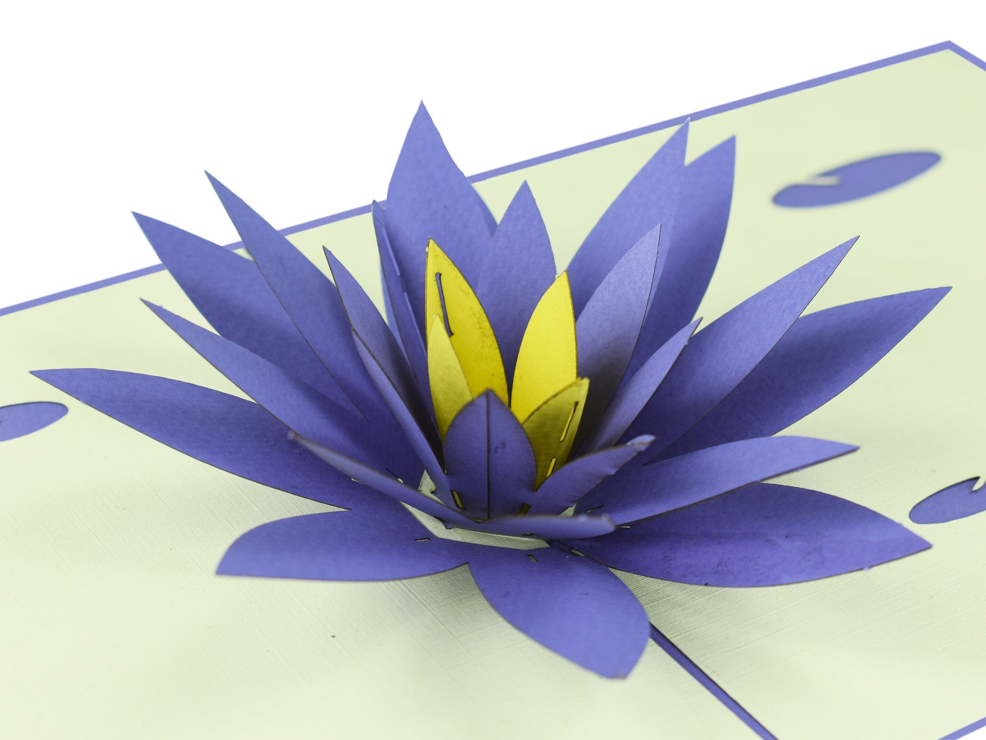 Lotus Flower 3D Creative Pop Up Card - detail