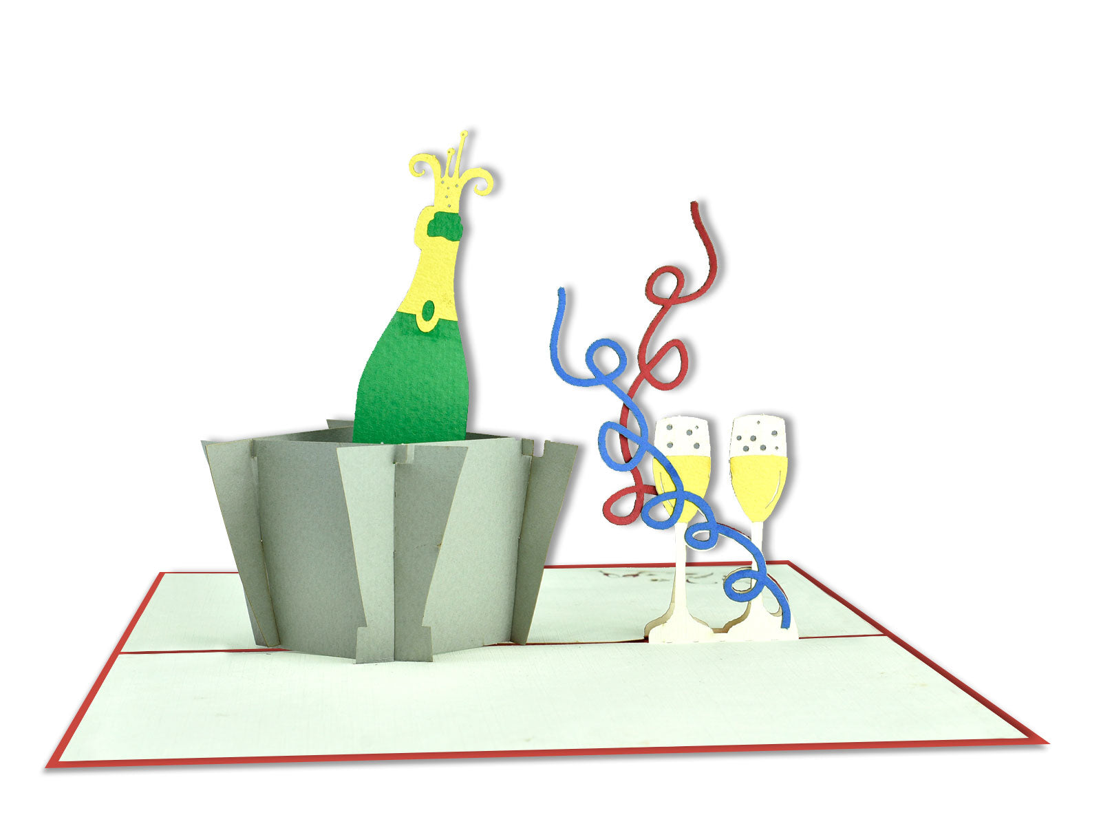 Champagne Happy Birthday Celebration 3D Creative Popcard