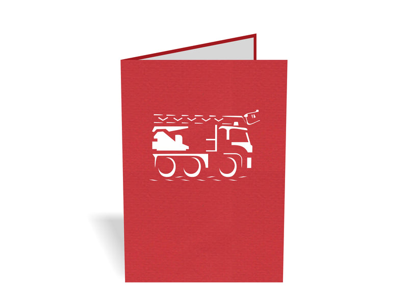 Fire Truck 3D Creative Pop Up Card