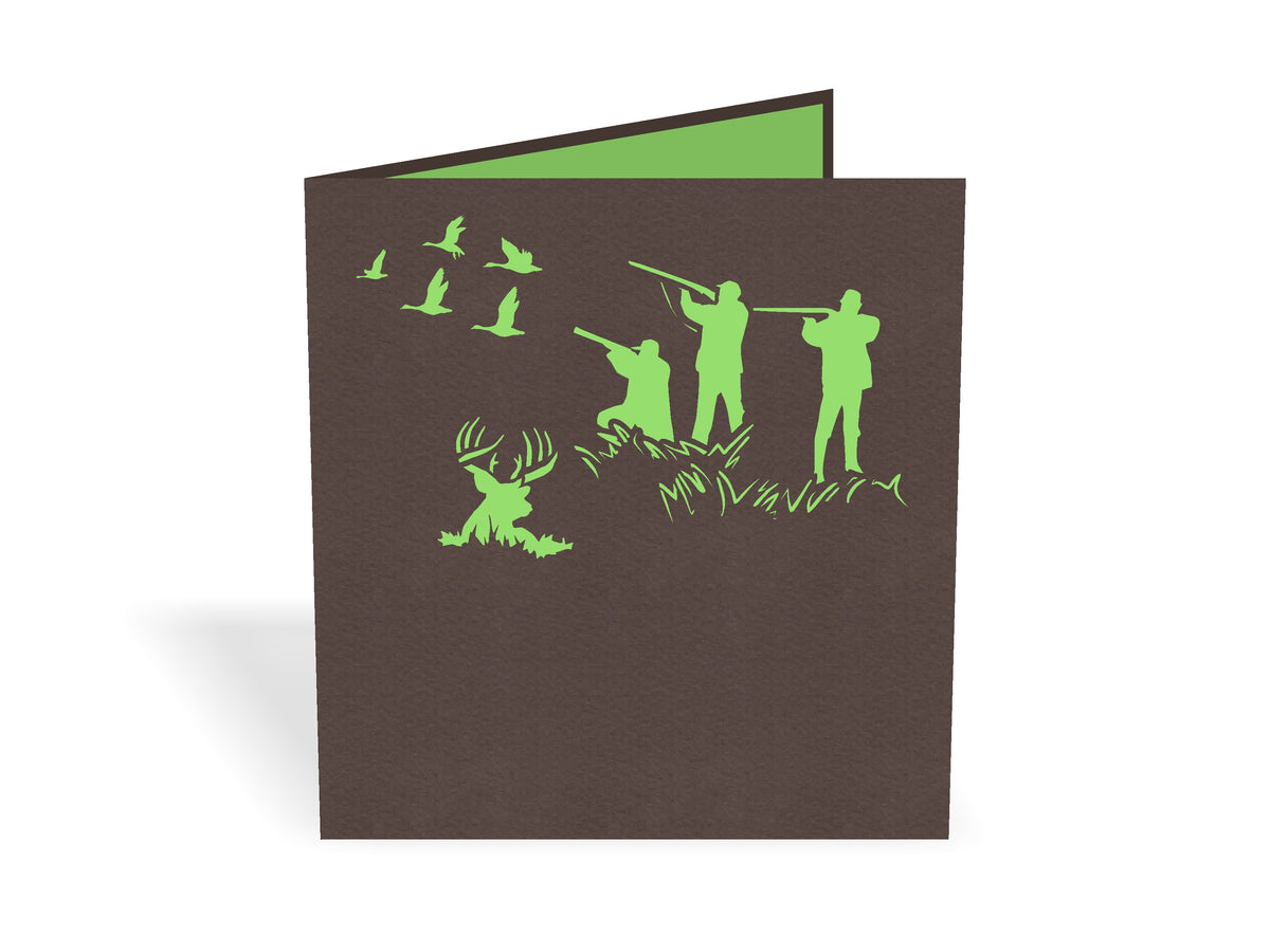 Hunting Birthday 3D Creative Pop Up Card
