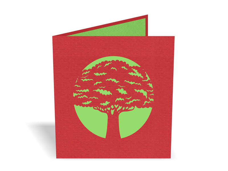 New Zealand Pohutukawa Tree 3D Creative Pop Up Card