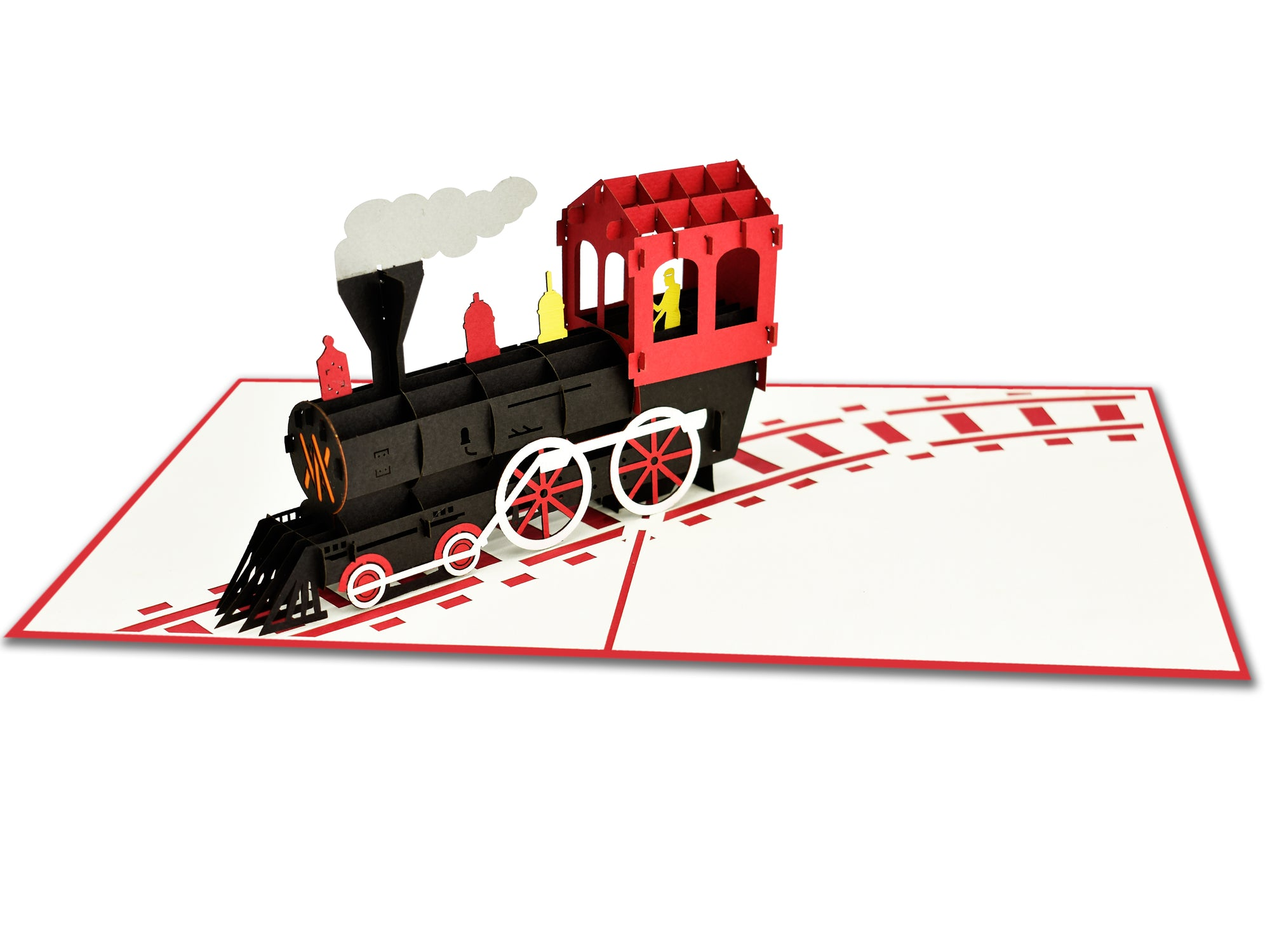 Steam Train 3D Creative Pop Up Card