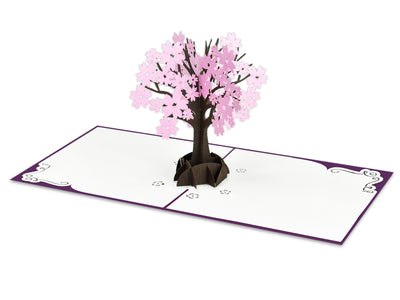 Pink Cherry Blossom Tree 3D Creative Pop Up Card