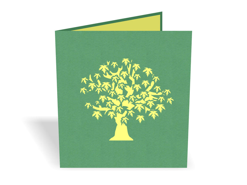 Japanese Maple Tree 3D Creative Pop Up Card