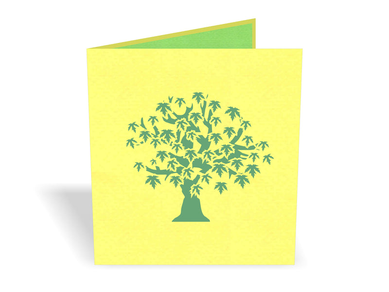 Japanese Maple Tree Sense 3D Creative Pop Up Card