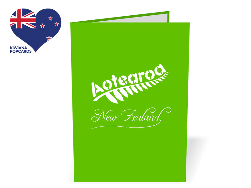 New Zealand Native Ferns 3D Creative Pop Up Card