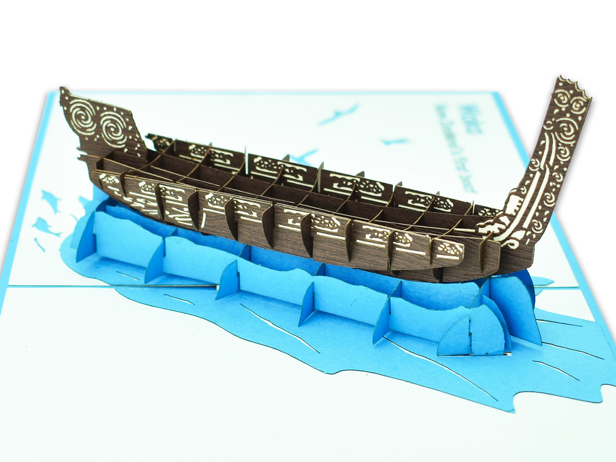New Zealand Waka 3D Creative Pop Up Card