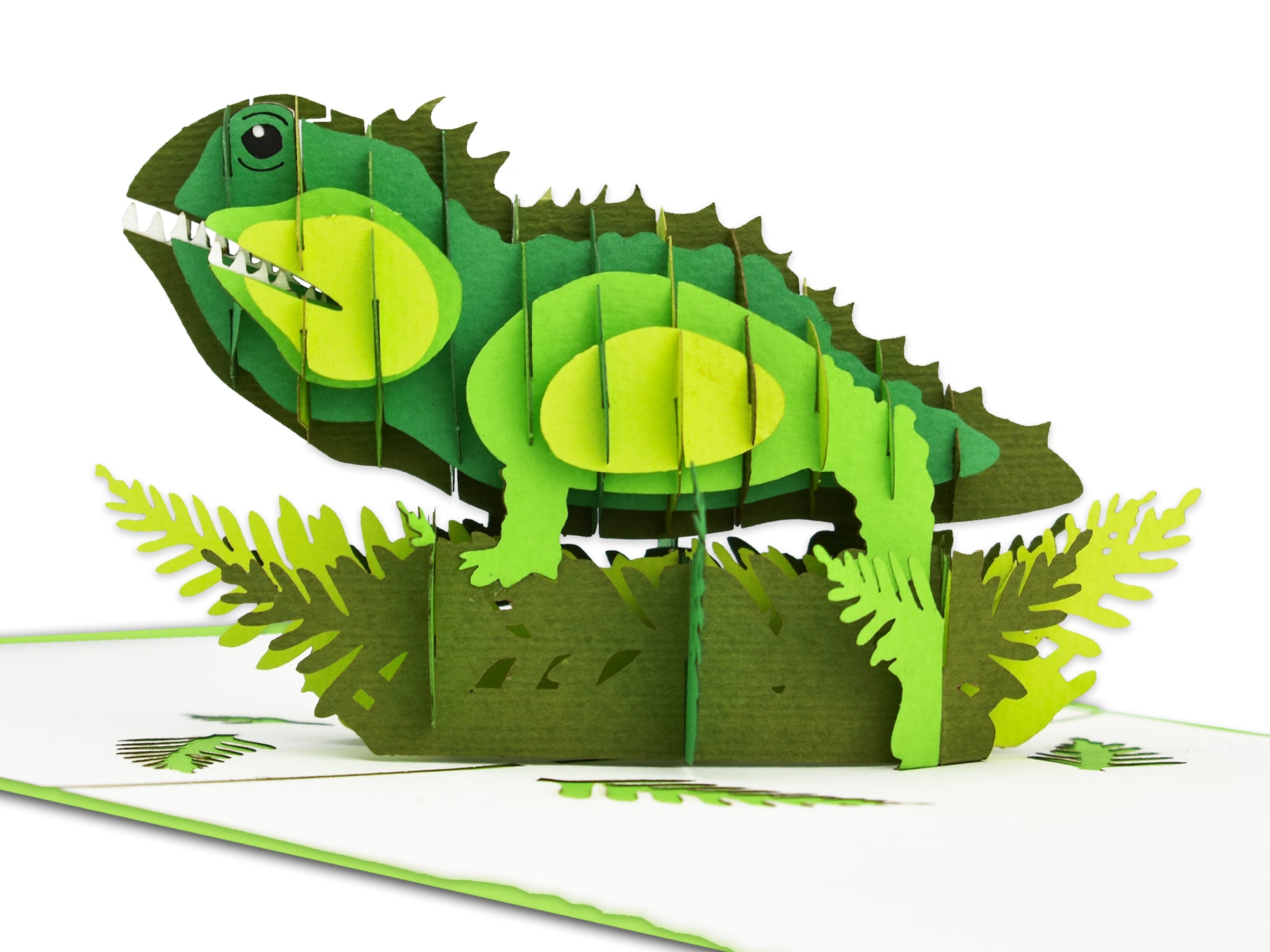 New Zealand Tuatara 3D Creative Pop Up Card - close up