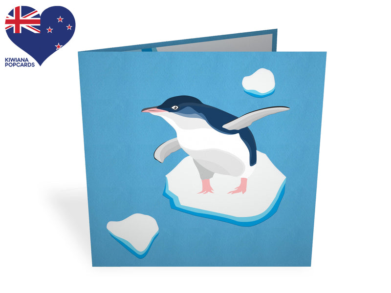 Blue Penguin 3D Creative Popcard