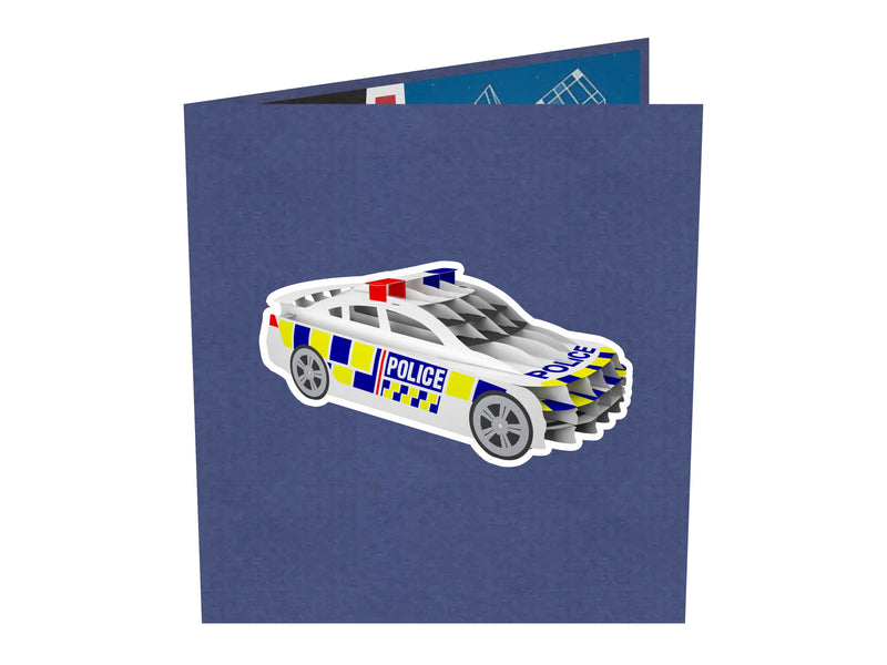 New Zealand Police Car 3D Creative Popcard
