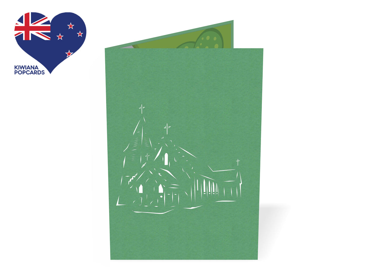 St Patrick's Akaroa Catholic Church 3D Creative Popcard
