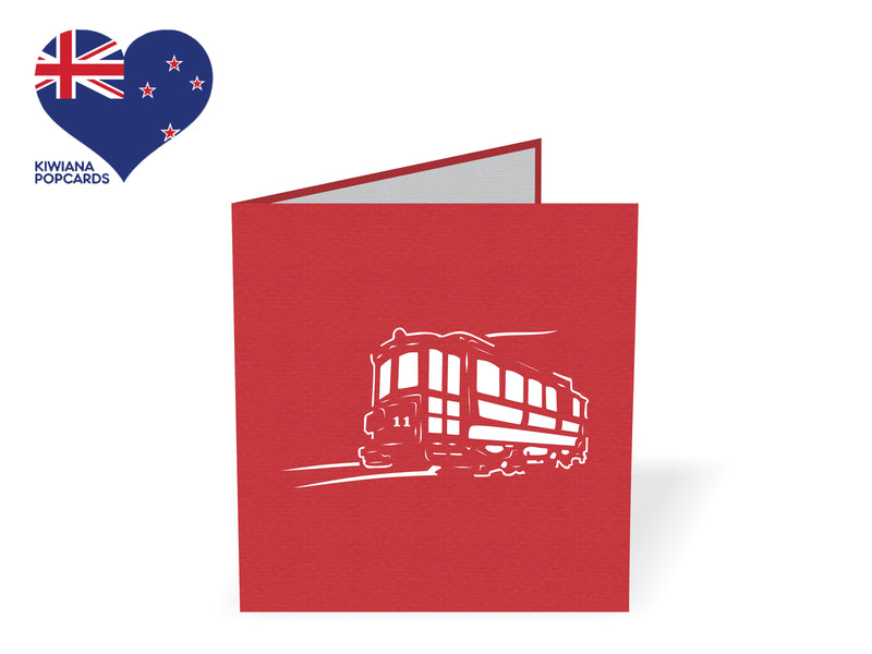 Christchurch Tram 3D Creative Pop Up Card