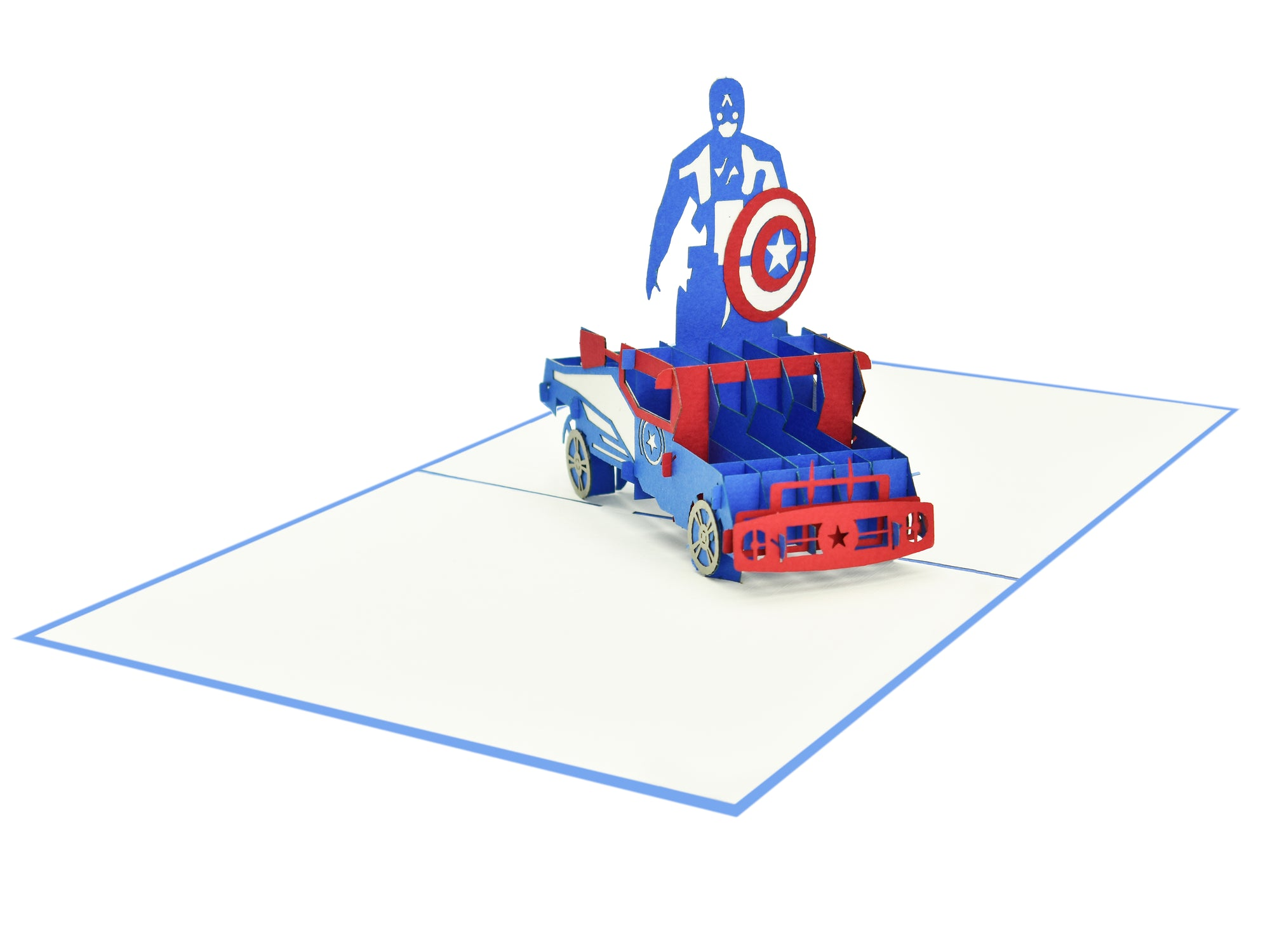 Captain of America 3D Creative Pop Up Card