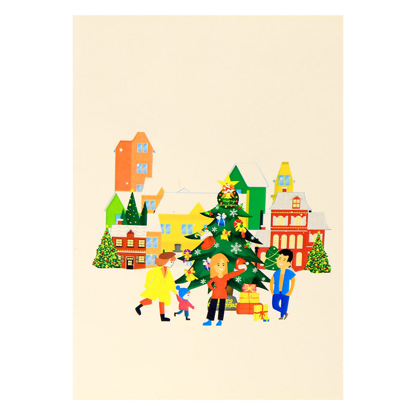 Christmas City Pop Up Card