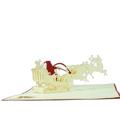 Christmas Santa Sleigh Pop Card