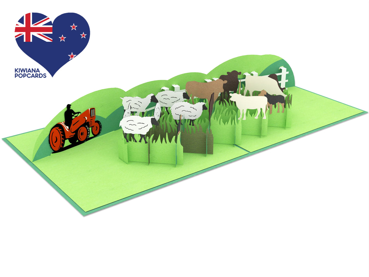 Sheep and Beef Farm 3D Creative Pop Up Card