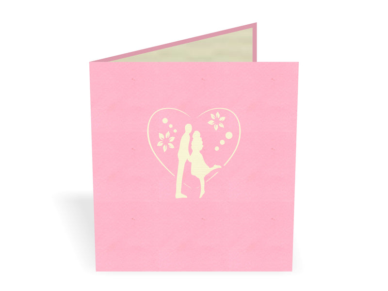 Couple In Love 3D Creative Pop Up Card