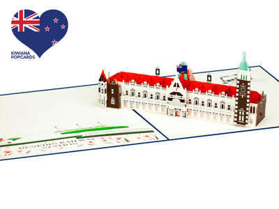 Dunedin Railway Station 3D Pop-Up Card