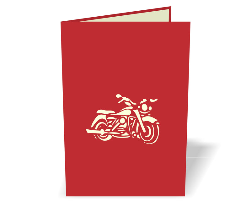 Harley Davidson Motorbike 3D Creative Pop Up Card