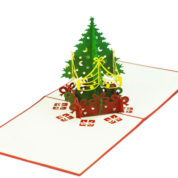 Christmas Tree 3d Pop Up Card Creative Popcards