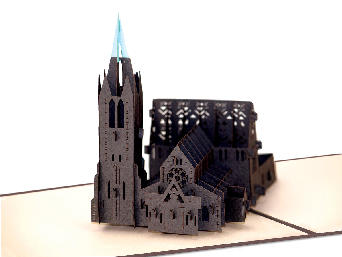 New Zealand Christchurch Cathedral 3D Creative Pop Up Card - close up