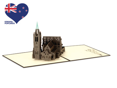 New Zealand Christchurch Cathedral 3D Creative Pop Up Card