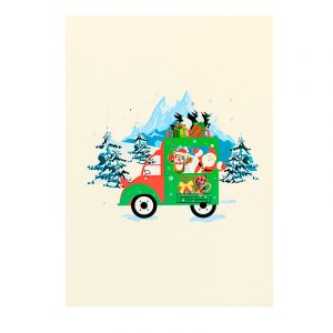 Christmas Car Pop Card