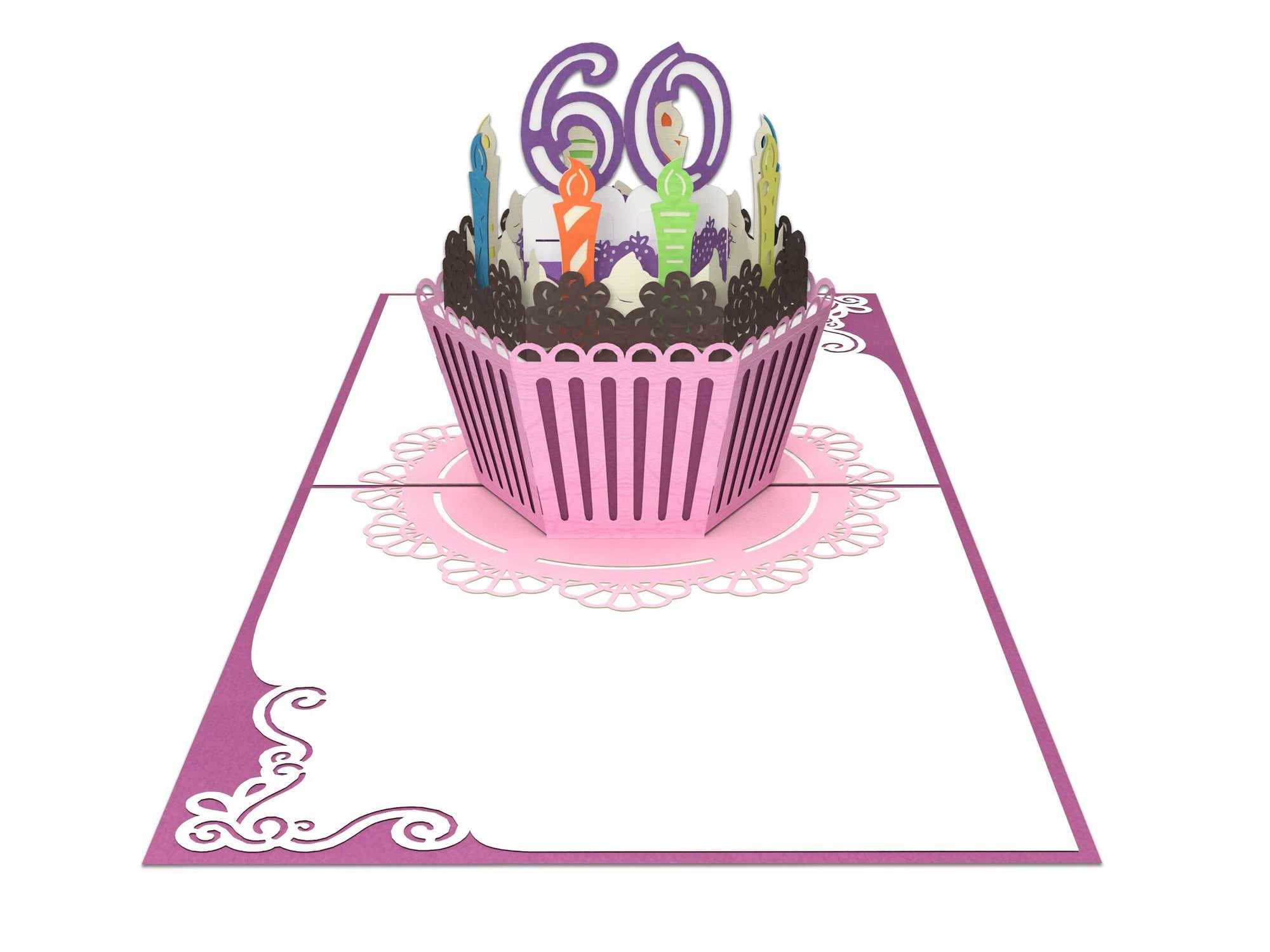 Fine 60Th Birthday Cake For Her 3D Creative Popcards Personalised Birthday Cards Paralily Jamesorg