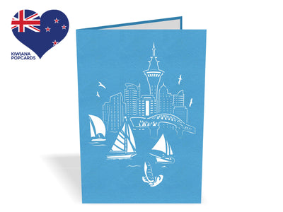 Auckland City of Sails 3D Creative Pop Up Card