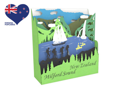 Milford Sound  3D Pop Up Box