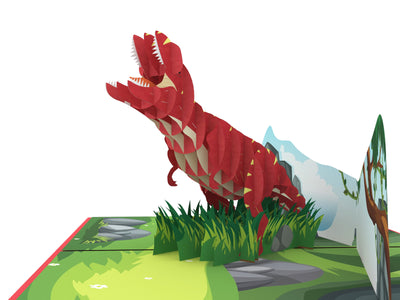 T-Rex 3D Creative Up Pop Card