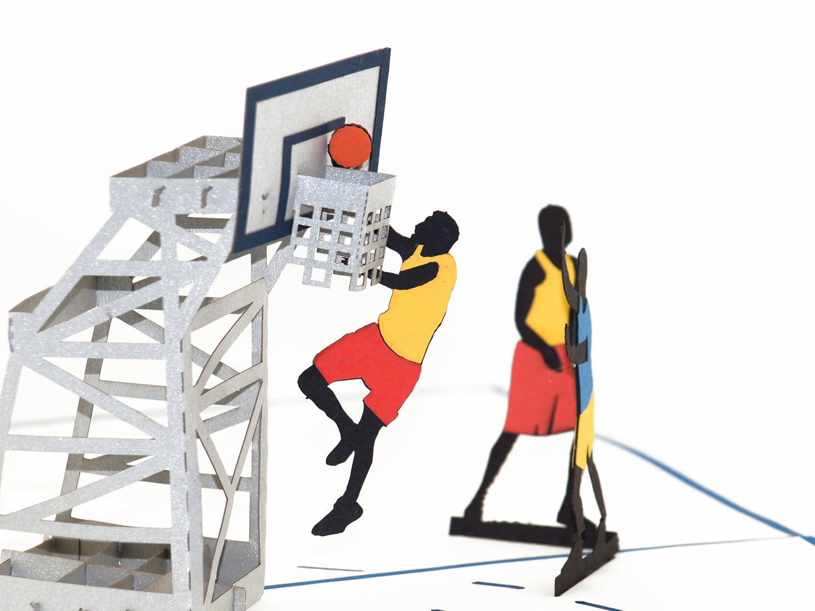 Basketball court 3D Creative Popcard