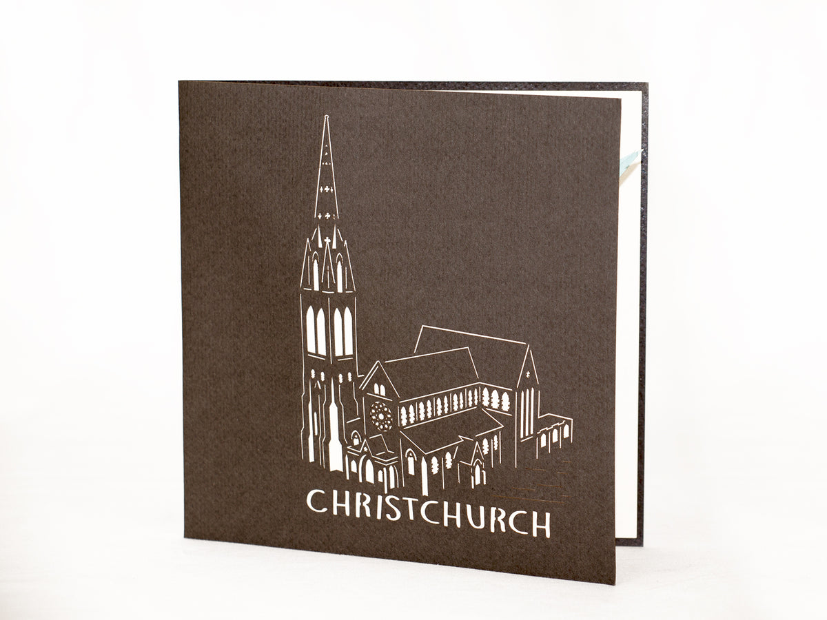 New Zealand Christchurch Cathedral 3D Creative Pop Up Card - outside
