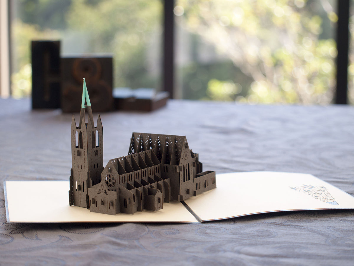 New Zealand Christchurch Cathedral 3D Creative Pop Up Card - alternate view