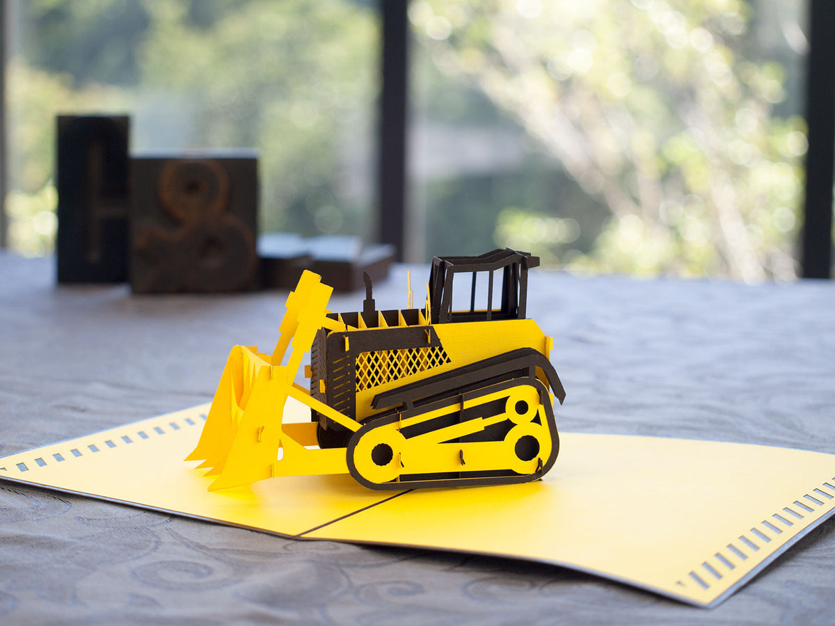 Bulldozer 3D Creative Pop Up Card