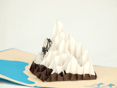 Mount Cook New Zealand 3D Creative Pop Up Card - close up